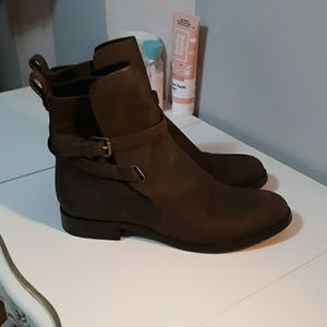Michael Kors brown leather boots!♡